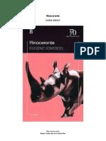 Ionesco Eugene Rinoceronte