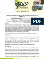 UTILIZAÇÃO DE PRODUTOS ORGÂNICOS - UMA QUESTÃO DE EDUCAÇÃO AMBIENTAL