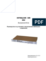 ISR IDU Installation and Cabling Instructions Edition1 RUS