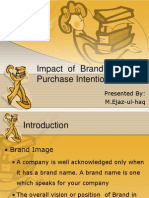 Impact of Brand Image on Purchase Intention