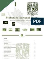 PROYECTO PARA LA CREACION DE LA BIBLIOTECA NACIONAL DIGITAL