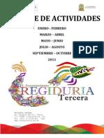 Actividades Por Bimestre de la Regiduria Tercera, Coatzacoalcos, Ver. 2011