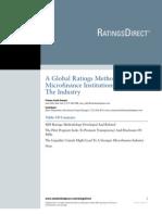 A Global Ratings Methodology for MF 11-6-08
