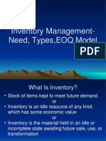 Inventory Need, Types,EOQ Model