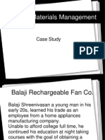 Materials Management - Case Study