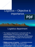 Logistics – Objective & importance