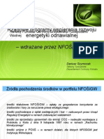 Rządowe programy wspierania OZE - NFOŚiGW (18.10.2011)