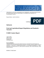 Indonesia Food and Agricultural Import Regulations and Standards