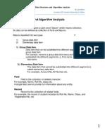 Data Structure and Algorithm Analysis-- Ijaz