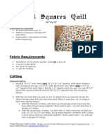 Royal Squares Quilt Pattern
