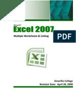 Excel 2007 Multiple Worksheets Linking