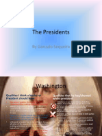 The Presidents Analysis Power Point Final