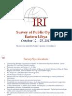 IRI - 2011 Dec 19_ Survey of Eastern Libya Public Opinion, October 12-25, 2011