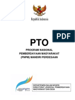 PTO PNPM Mandiri Perdesaan