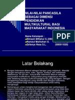 Pancasila Dan Multikulturalisme Indonesia (1)