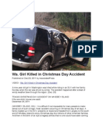 Wa. Girl Killed in Christmas Day Accident