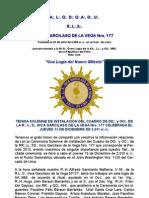 CRONICA CEREMONIA SOLEMNE DE INSTALACIÓN DEL CUADRO DE DD y OO 2012