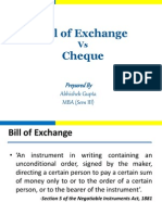 Bill of ExchangeVsCheque-Ppt