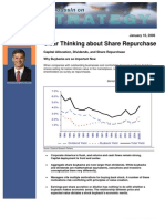 Clear Thinking About Share Repurchase