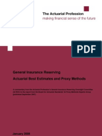 Actuarial Best Estimates and Proxy Methods