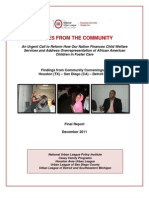 Final Report on Community Convenings 12 9 11