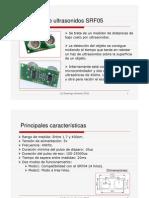 El Sensor de Ultrasonidos Sfr05 Rev091210