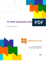 TX 4000 Installation and Configuration Manual
