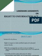 Landmark Judgments