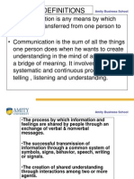 Definitions of Communication