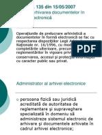 legea arhivarii electronice