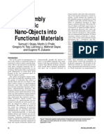 Samuel I. Stupp et al- Self-Assembly of Organic Nano-Objects into Functional Materials