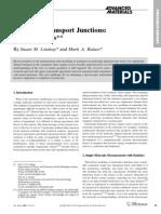 Stuart M. Lindsay and Mark A. Ratner- Molecular Transport Junctions