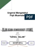 1. Urgensi fiqh Muamalah.