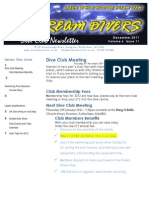 Dream Divers December 2011 Dive Club newsletter
