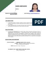 Grace Abogado's CV