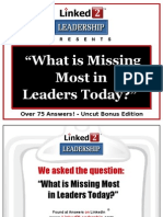 What is Missing Most in Leaders Today - Linked 2 Leadership