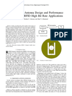 A Micro Strip Antenna Design and Performance Analysis for RFID High Bit Rate Applications 2011