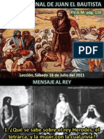 Lección 03 - La misión final de Juan el bautista
