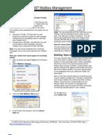 Outlook Mailbox Management