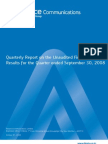 Q209 Reliance Communications Quarterly Report