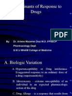 Biological Determinants of Drug Responses