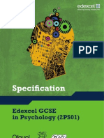Edexcel GCSE Psychology - Spec
