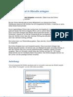 SchiLF - Die Online-Aufgabe und Datenbank in Moodle