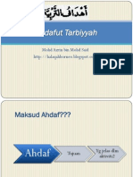 Ahdafut Tarbiyyah