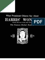 Wondro Historical Testimonials Pamphlet