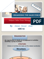 Organizing the Sales Force