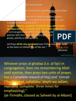 Great Rewards for Easy actions in islam