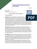 ONU Derecho Humano Al Agua y El to
