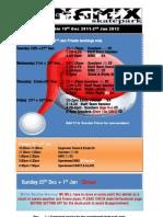Xmas Hols Timetable 2011