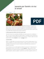 La Dieta Propuesta Por Daniel a La Luz de La Ciencia